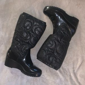 Coach Cantina Quilted Winter Puffy Boots